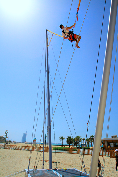 Bungy éjection à Dubaï