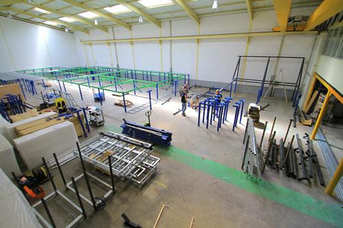 montage salle de trampoline phase 3