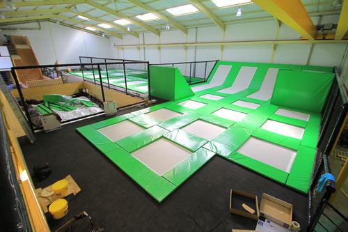 montage salle de trampoline phase 6