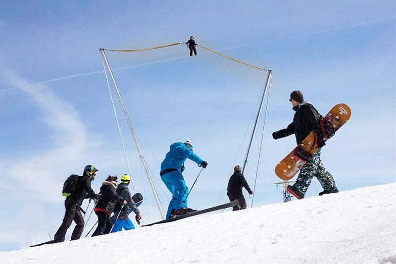 bungy ejection aux sports d'hiver
