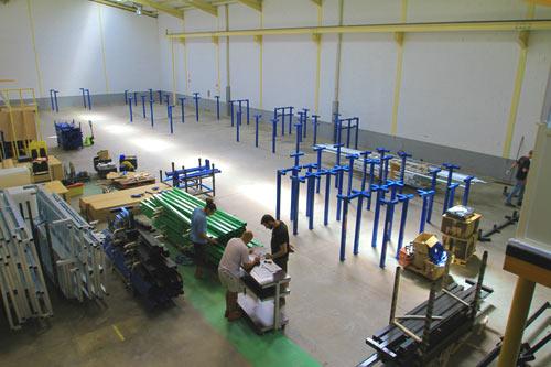 montage salle de trampoline phase 2