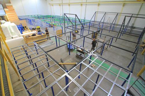 montage salle de trampoline phase 4