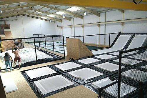montage salle de trampoline phase 5