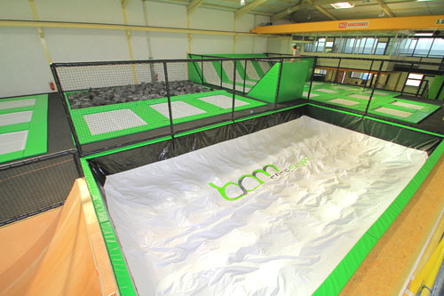 montage salle de trampoline phase 7